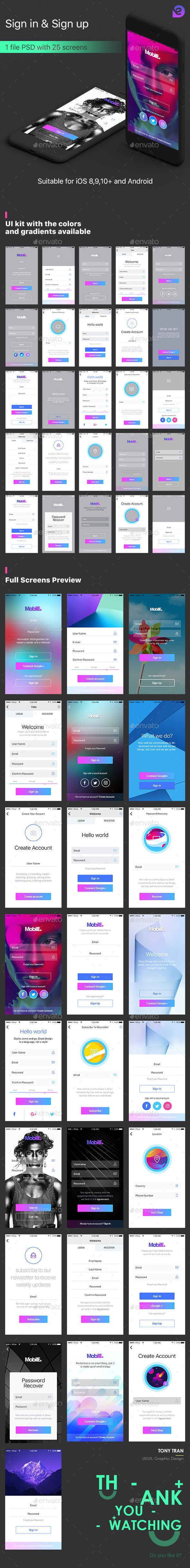 Travel Social App UI Kit (User Interfaces)