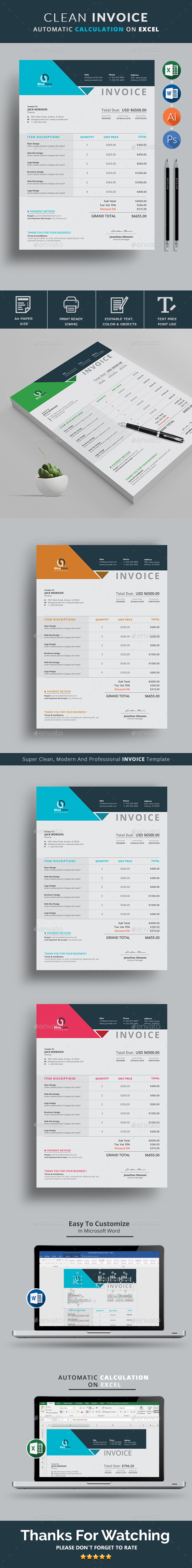 What Is An Invoice Price On A New Car Excel Excel Invoice Graphics Designs  Templates From Graphicriver Request Read Receipt Hotmail Pdf with Job Invoice Forms Excel  Invoice Examples In Word Word