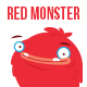 The Furry Red Monster in 14 Poses