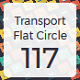 Transport Flat Square Shadow icons