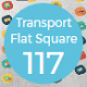 Transport Flat Square Rounded Icons