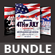 4th of July Flyers Bundle Templates