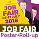 Job Fair Poster & Roll-Up Banner Template