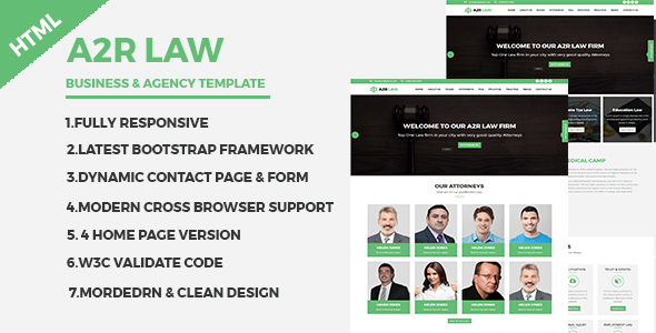 Download A2RLAW - Business and Agency Responsive HTML Template