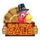 Thanksgiving Turkey Black Friday Sale Sign