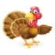 Cartoon Turkey Bird Pointing