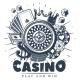 Vintage Monochrome Casino Logo Template