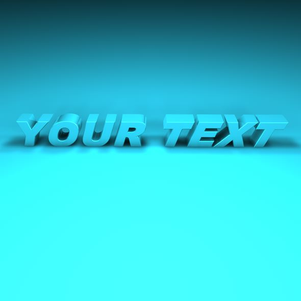 Your Text Project - 3DOcean Item for Sale