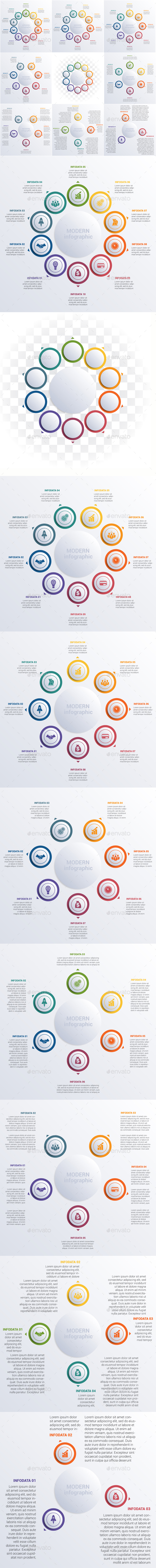 Modern Infographic diagram business steps for 3,4,5,6,7,8,9,10 options.