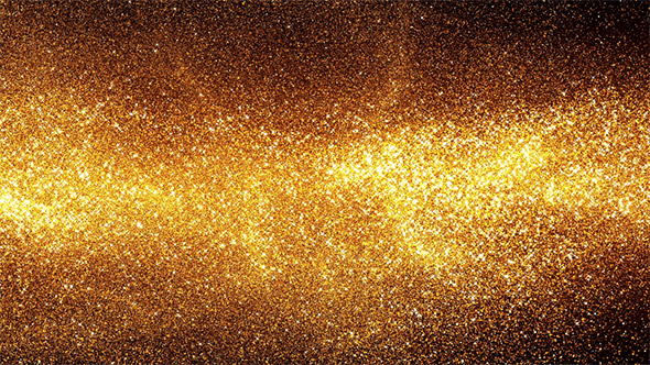 Golden Energy Particles Background - Horizontal