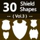 30 Shields Photoshop Vector Custom Shapes ( Vol.4 )