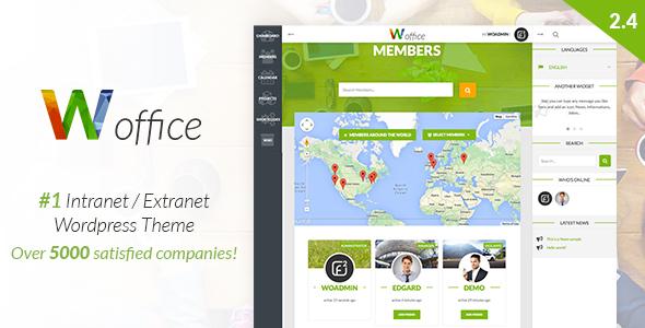 Woffice - Intranet/Extranet WordPress Theme