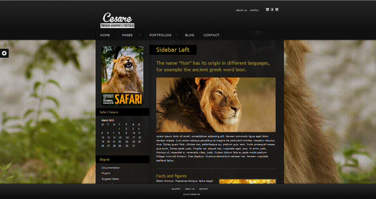 Cesare - WP Full Screen Portfolio Theme