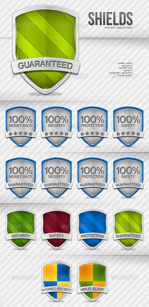 Premium Shields pack - Miscellaneous Web Elements