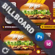 Fast Food Burger Billboard Templates