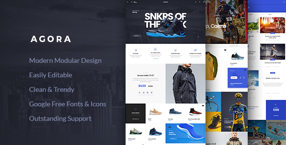 Agora - AJAX WooCommerce Theme