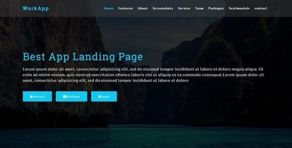 Warkapp-Multipurpose App Landing HTML5 Template