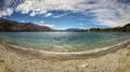panoramic view over Lake Wanaka in New Zealand