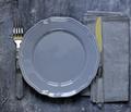 Empty Gray Plate