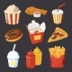 Vector Collection of Fast Food Pictures in Cartoon