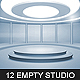 12 Empty Studio & Hall Backgrounds