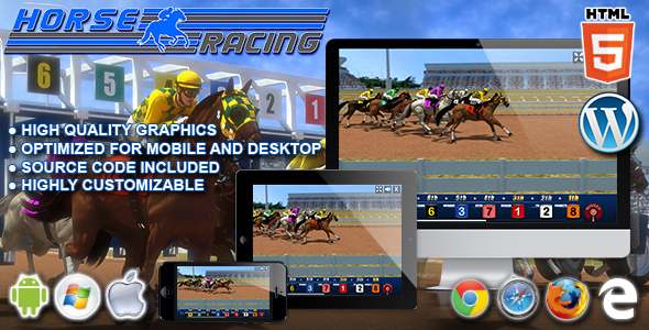 Download Horse Racing - HTML5 Casino Game