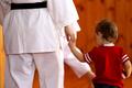 Woman Karate in White Kimono