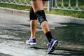 Legs Women Athletes in Knee Pad