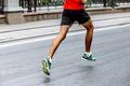 Legs of Male Athlete