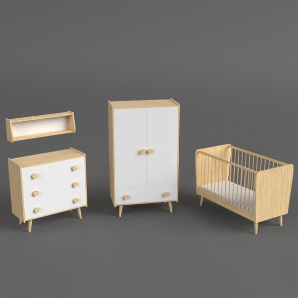 3DOcean Infant Bedroom Furniture set 20006303