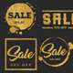 Gold Glitter Sale Badges