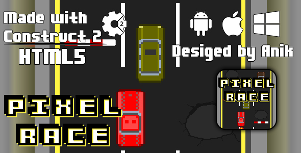 Download PIXEL RACE - HTML5 GAME (CAPX)