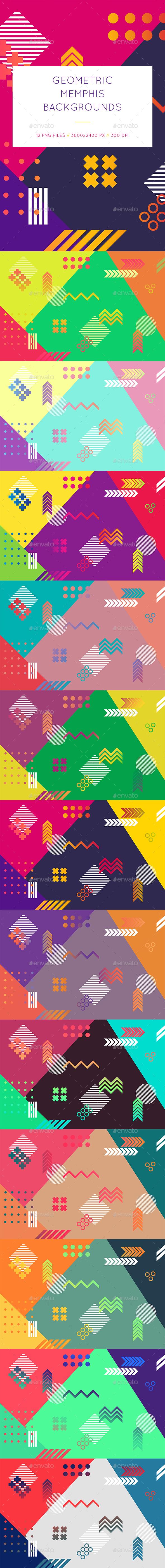 Geometric Memphis Backgrounds