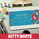 Ticket Kitty Party Invitation Card