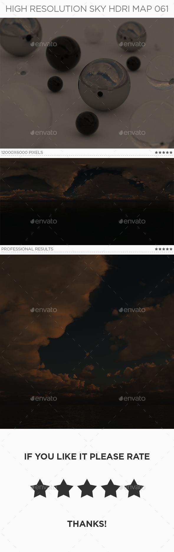 High Resolution Sky HDRi Map 061