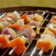 Healthy Colorful Kebabs with Fresh Vegetables