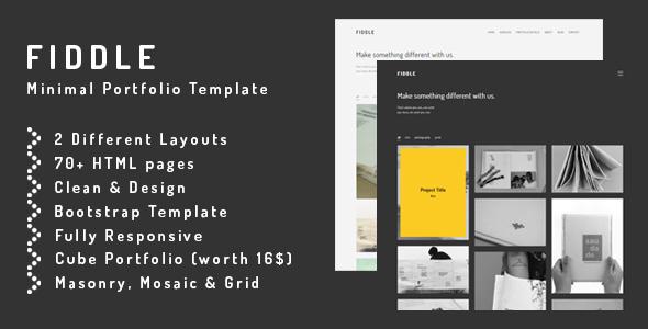 Fiddle - Minimal HTML Portfolio Template