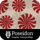 Spin Flower Seamless Pattern