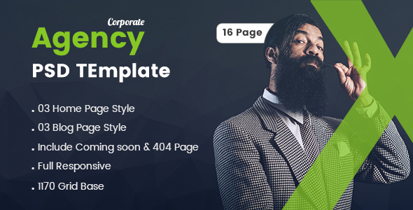 Corporate Agency PSD Template