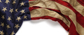 Vintage red, white, and blue American flag for Memorial day or V