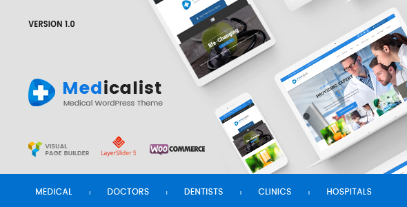Medicalist – An All-in-1 WP Healthcare Theme with Appointment and Blood Donation Method (Wellness &amp Beauty)
