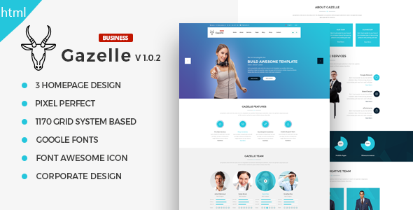 Gazelle - Fully Responsive Multi-Purpose HTML5 Website Template