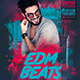 Edm Beats Party Flyer