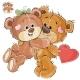 Loving Brown Teddy Bear Hides Valentine Heart