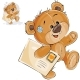 Brown Teddy Bear Carries Letter