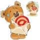 Brown Teddy Bear Holding Postal Envelope