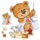 Brown Teddy Bear Tailor