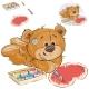 Brown Teddy Bear Paints