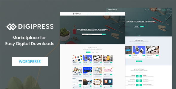 Digipress – Marketplace for Easy Digital Downloads WordPress Theme