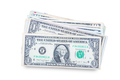 US dollars isolated.